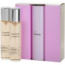 Chanel Chance toaletní voda pro ženy 3x20 ml (1x plnitelná + 2x náplň)