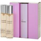 Chanel Chance Eau de Toilette für Damen 3x20 ml (1x Nachfüllbar + 2x Nachfüllung)
