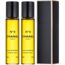 Chanel No.5 парфюмна вода за жени 3x20 мл. (1 бр. зареждащ се + 2 бр. пълнеж) малка опаковка