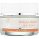 Clarena Acid Line Retinol & Mandelic Acid noční protivráskový krém pro užití během a po sérii exfoliačních ošetření  50 ml