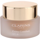 Clarins Face Make-Up Extra-Comfort maquillaje rejuvenecedor e iluminador para proporcionar un aspecto natural SPF 15 tono 107 Beige (Anti-Ageing Foundation Replenishes, Illuminates) 30 ml
