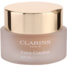 Clarins Face Make-Up Extra-Comfort Brightening Rejuvenating Foundation for Natural Look SPF 15 Color 110 Honey (Anti-Ageing Foundation Replenishes, Illuminates) 30 ml