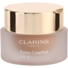 Clarins Face Make-Up Extra-Comfort maquillaje rejuvenecedor e iluminador para proporcionar un aspecto natural SPF 15 tono 112 Amber (Anti-Ageing Foundation Replenishes, Illuminates) 30 ml