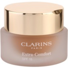 Clarins Face Make-Up Extra-Comfort maquillaje rejuvenecedor e iluminador para proporcionar un aspecto natural SPF 15 tono 113 Chestnut (Anti-Ageing Foundation Replenishes, Illuminates) 30 ml