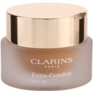 Clarins Face Make-Up Extra-Comfort posvetlitveni in pomlajevalni tekoči puder na naraven videz SPF 15 odtenek 114 Cappuccino  30 ml