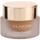 Clarins Face Make-Up Extra-Comfort maquillaje rejuvenecedor e iluminador para proporcionar un aspecto natural SPF 15 tono 114 Cappuccino (Anti-Ageing Foundation Replenishes, Illuminates) 30 ml