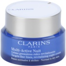 Clarins Multi-Active krem rewitalizujący na noc na drobne zmarszczki do cery normalnej i suchej  50 ml