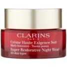 Clarins Super Restorative rewitalizujący krem na noc do wszystkich rodzajów skóry  50 ml