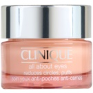 Clinique All About Eyes™ crema para contorno de ojos antibolsas y antiojeras (All Skin Types) 15 ml