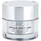 Clinique Clinique Smart nawilżający krem przeciwzmarszczkowy na noc do skóry suchej i mieszanej  30 ml