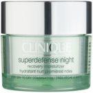 Clinique Superdefense Feuchtigkeitsspendende Nachtcreme gegen die ersten Anzeichen von Hautalterung 50 ml