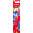 Colgate 360°  Surround Vibrating Toothbrush With Battery Medium Blue (Bristles and Wraparound, Cheek & Tongue Cleaner)