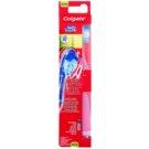 Colgate 360°  Surround cepillo de dientes vibrante con batería  medio Pink (Bristles and Wraparound, Cheek & Tongue Cleaner)