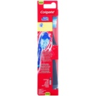 Colgate 360°  Surround Vibrating Toothbrush With Battery Medium Black (Bristles and Wraparound, Cheek & Tongue Cleaner)