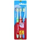 Colgate Extra Clean Medium Toothbrushes 3 pcs Green & Orange & Blue (Reaches Back Teeth)