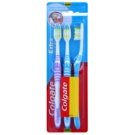 Colgate Extra Clean Medium Toothbrushes 3 pcs Violet & Blue & Blue (Reaches Back Teeth)