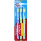 Colgate Extra Clean Medium Toothbrushes 3 pcs Violet & Green & Green (Reaches Back Teeth)