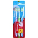 Colgate Extra Clean Medium Toothbrushes 3 pcs Violet & Green & Blue (Reaches Back Teeth)