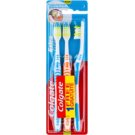 Colgate Extra Clean Medium Toothbrushes 3 pcs Blue & Orange & Blue (Reaches Back Teeth)