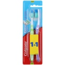 Colgate Extra Clean Medium Toothbrushes 2 pcs Green & Violet (Reaches Back Teeth)