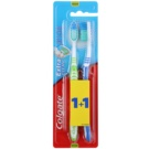 Colgate Extra Clean Medium Toothbrushes 2 pcs Green & Dark Blue (Reaches Back Teeth)