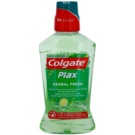 Colgate Plax Herbal Fresh вода за уста против зъбна плака (Alcohol Free, Fights Bacteria & Plaque 24/7 Bad Breath Control) 500 мл.