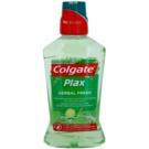 Colgate Plax Herbal Fresh ústní voda proti zubnímu plaku (Alcohol Free, Fights Bacteria & Plaque 24/7 Bad Breath Control) 500 ml