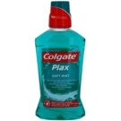 Colgate Plax Soft Mint apa de gura antiplaca (Alcohol Free, Fights Bacteria & Plaque 24/7 Bad Breath Control) 500 ml