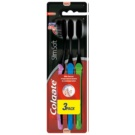 Colgate Slim Soft Active Toothbrushes with Activated Charcoal - Soft 3 pcs Green & Blue & Pink (Interdental, Slim Bristles 0,01 mm)