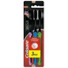 Colgate Slim Soft Active fogkefe aktív szénnel soft 3 db Green & Blue & Pink (Interdental, Slim Bristles 0,01 mm)