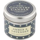 Country Candle Amber & Lavender Scented Candle   in Tin