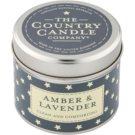 Country Candle Amber & Lavender vonná svíčka   v plechu