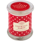 Country Candle Cocktail Party Scented Candle   in Glass Jar with Lid