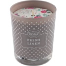 Country Candle Fresh Linen vonná svíčka   ve skle
