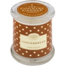 Country Candle Gingerbread Scented Candle   in Glass Jar with Lid