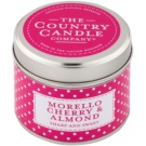 Country Candle Morello Cherry & Almond vonná svíčka   v plechu