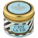 Country Candle Parisian Café vonná svíčka   v plechu