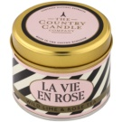Country Candle Wild Lime & Rose Tea Scented Candle   in Tin