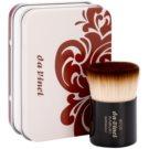 da Vinci Kabuki štětec na make-up a pudr + kovové pouzdro No. 9710 (Smooth Synthetic Fibres in Cappuccino - Colour)