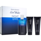 Davidoff Cool Water Night Dive dárková sada I. toaletní voda 125 ml + sprchový gel 75 ml + balzám po holení 75 ml