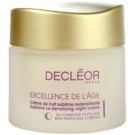 Decléor Excellence de L´Âge Anti-Âge Global éjszakai ránctalanító krém érett bőrre (Sublime Re-Densifying Night Cream 50+) 50 ml
