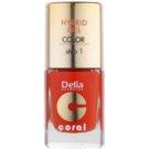 Delia Cosmetics Coral Nail Enamel Hybrid Gel géles körömlakk árnyalat 02  11 ml