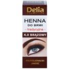 Delia Cosmetics Henna szemöldökfesték árnyalat 4.0 Brown