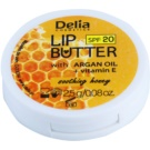 Delia Cosmetics Lip Butter Soothing Honey pielęgnujące masełko do ust SPF 20 (Argan Oil And Vitamin E) 2,5 g