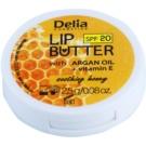 Delia Cosmetics Lip Butter Soothing Honey  tápláló ajakbalzsam SPF 20  2,5 g
