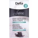 Delia Cosmetics Satine Depilation Chocolate Fragrance Enthaarungswachsstreifen für den Körper  16 St.