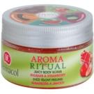 Dermacol Aroma Ritual svěží tělový peeling rebarbora a jahody  200 g