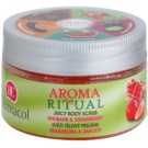 Dermacol Aroma Ritual svěží tělový peeling rebarbora a jahody (Juicy Body Scrub) 200 g
