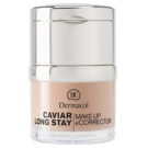 Dermacol Caviar Long Stay dlouhotrvající make-up s výtažky z kaviáru a zdokonalující korektor odstín fair 30 ml