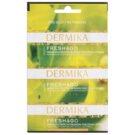 Dermika Fresh & Go mascarilla para aliviar los síntomas de cansancio y estrés para contorno de ojos  3 x 2 ml